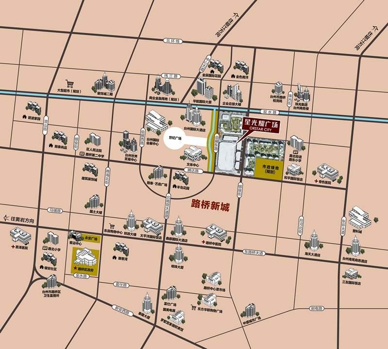 台州星光耀广场商铺位置图