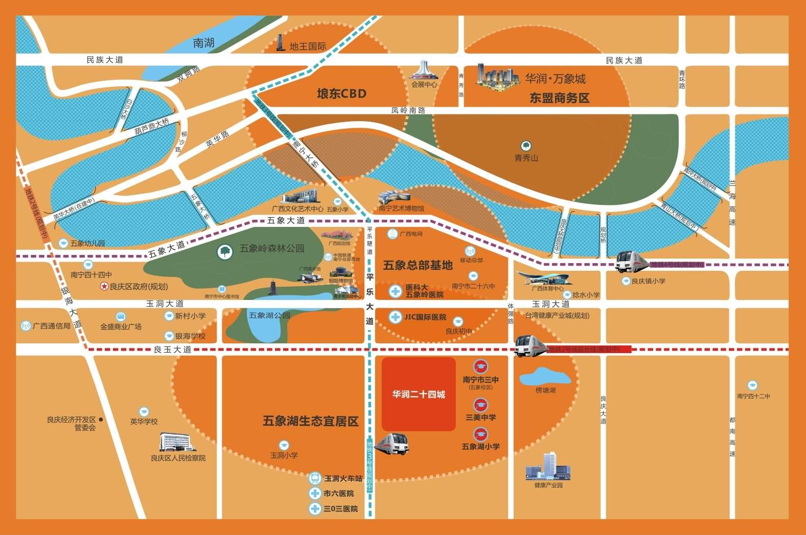华润二十四城位置图
