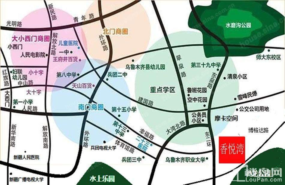 香悦湾位置图