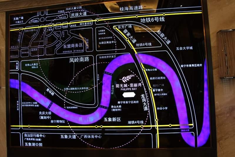 南宁阳光城翡丽湾位置图