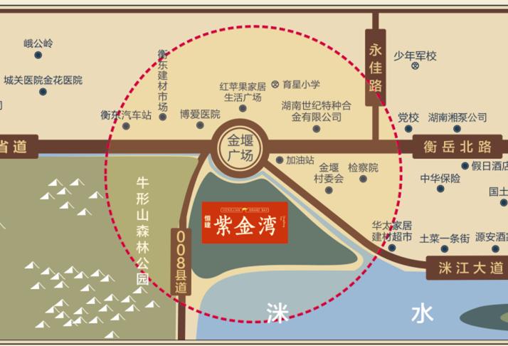 恒建·紫金湾位置图