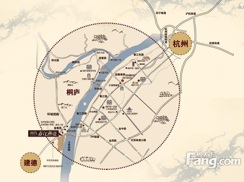 同方春江燕语位置图