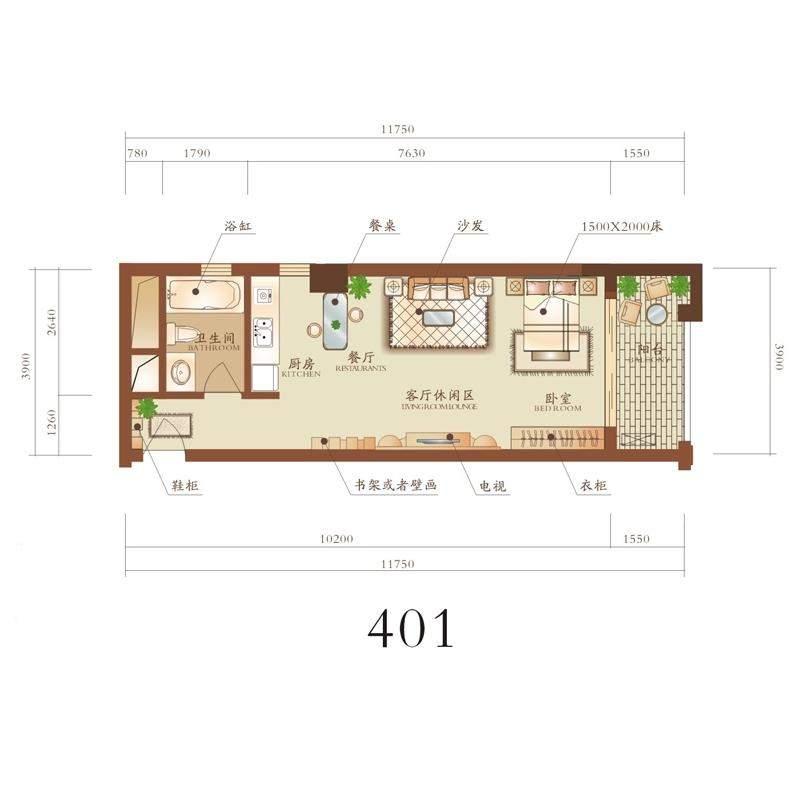 春江公馆401户型
