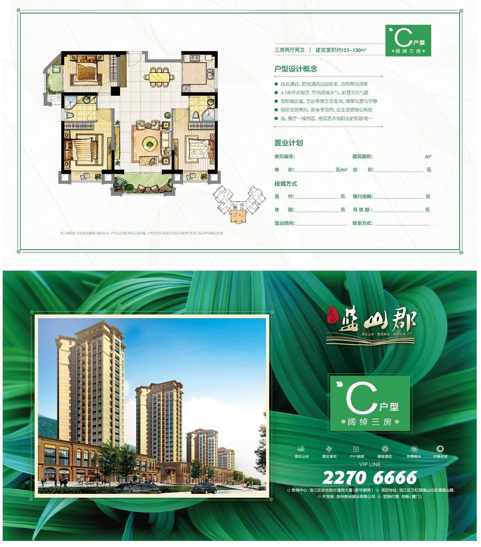 C三房户型图