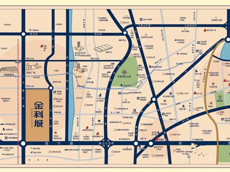 金科城位置图