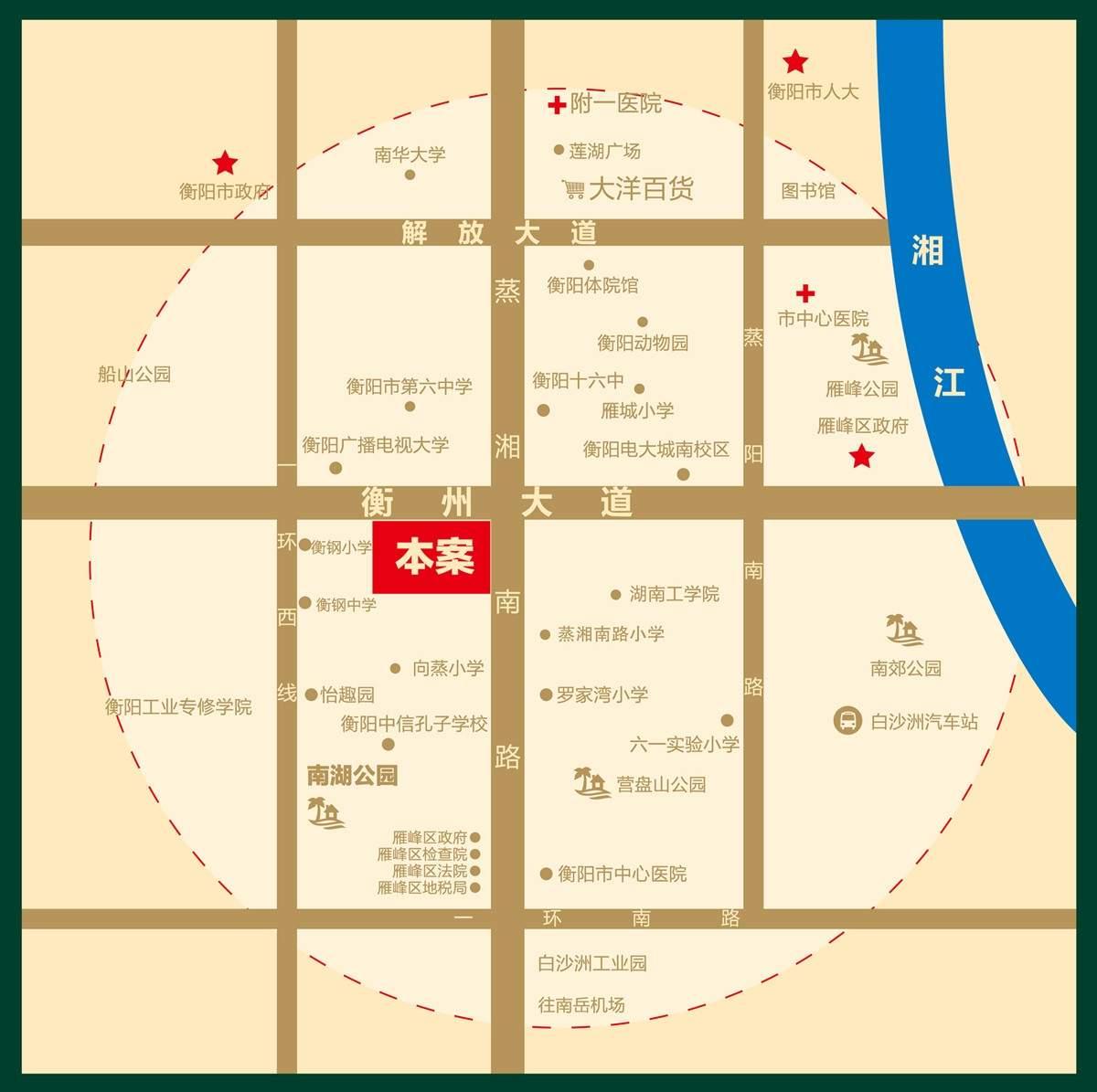 恒昇·中央公园位置图