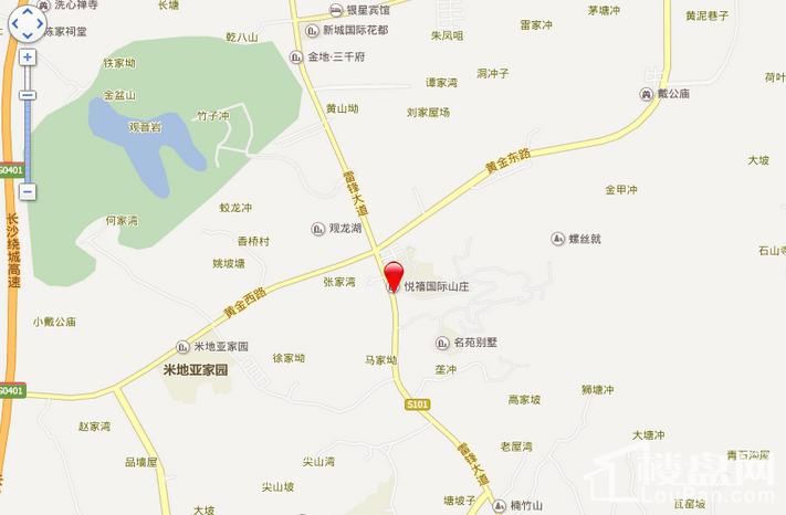 悦禧国际山庄位置图