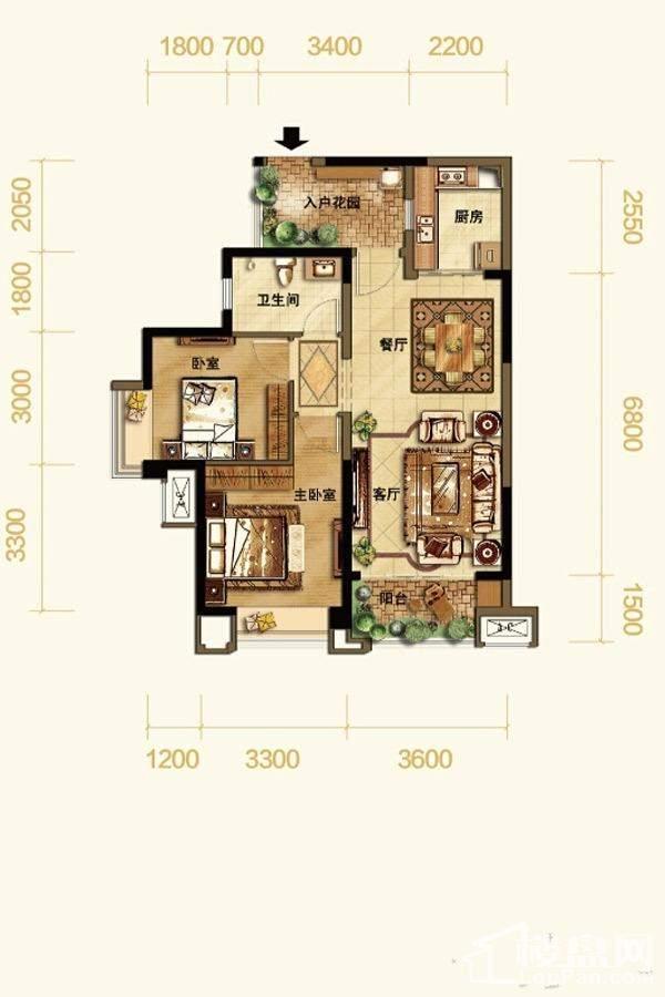 高层1号楼标准层