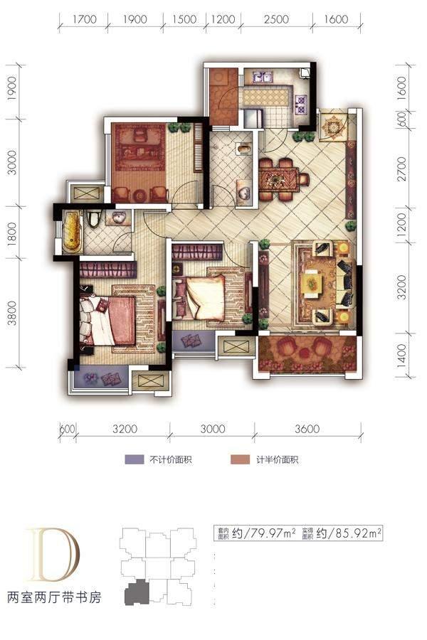 1期高层1、2、3、4、5号楼标准层D