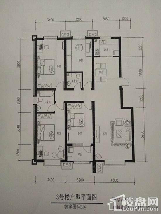 3号楼户型平面图
