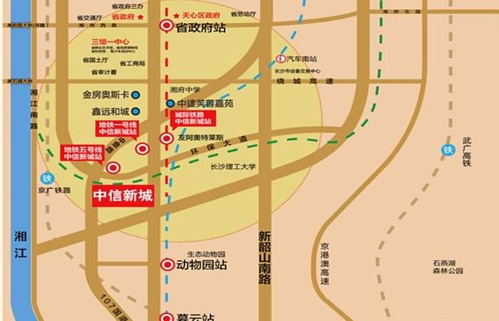 中海新城熙岸位置图