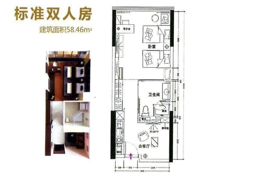 公寓58平户型
