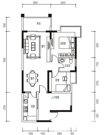 鸿江·尚城世家户型图