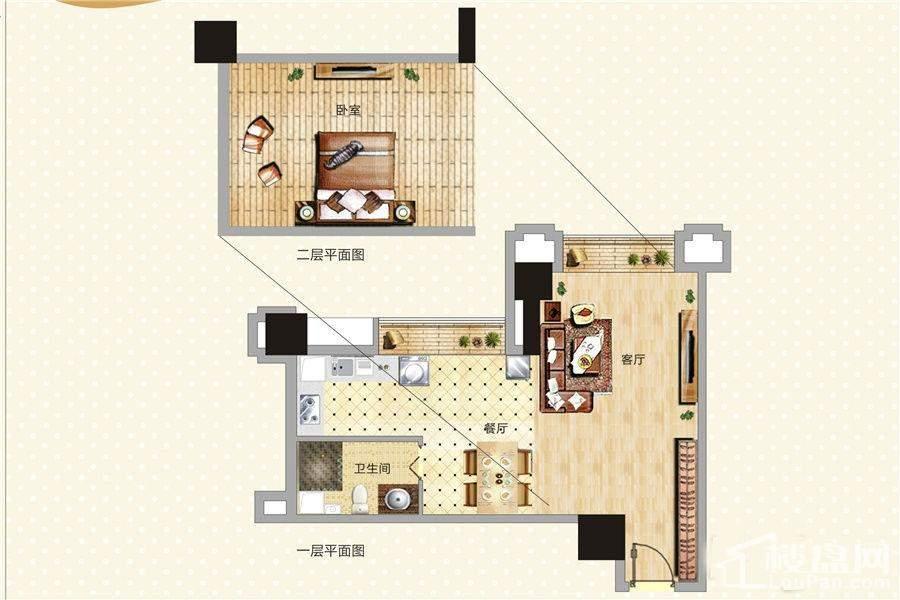 青年公寓1号及24号LOFT户型