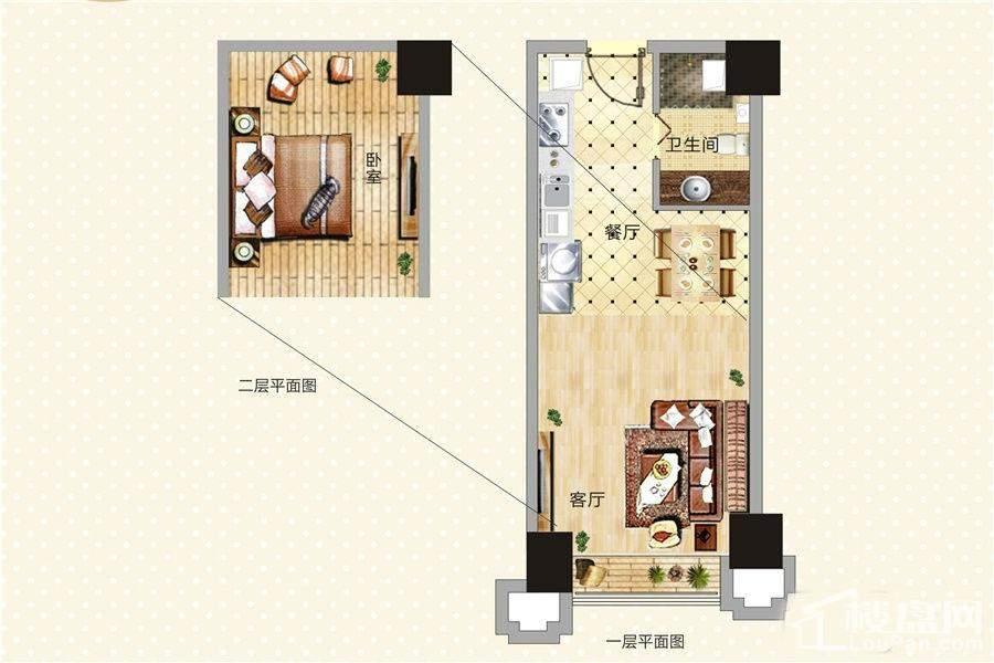 青年公寓17-21号LOFT户型