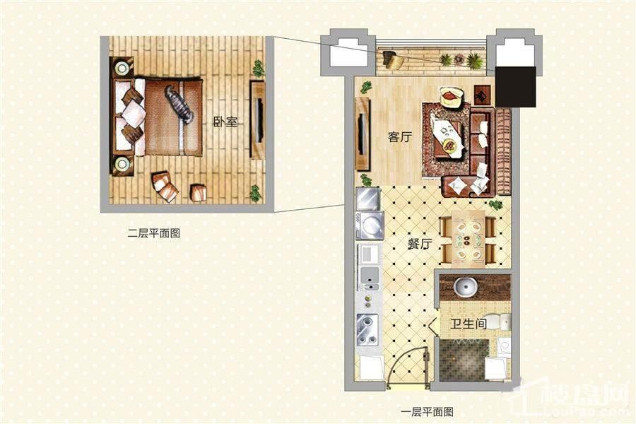 青年公寓2/3/9/10/11号LOFT户型