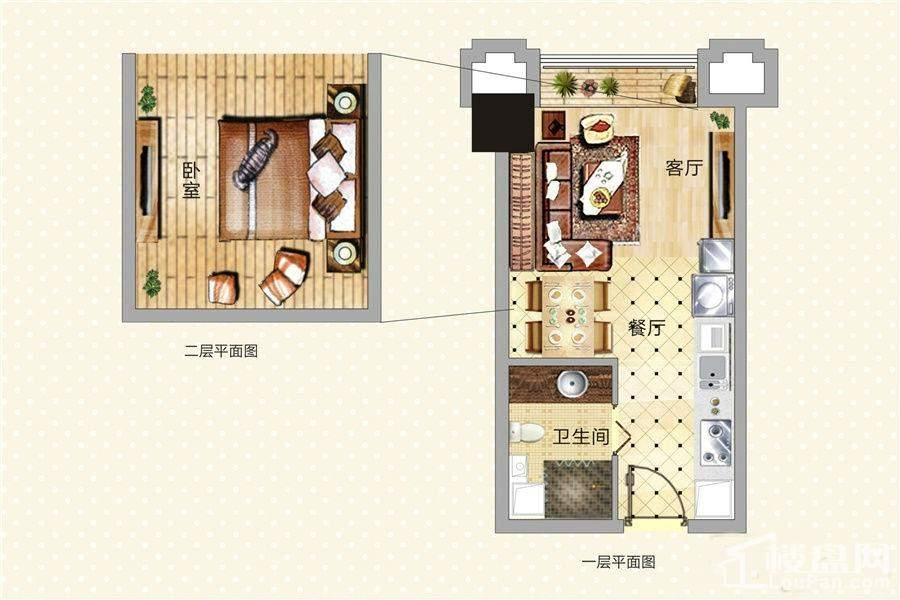 青年公寓4/5/6/7/8号LOFT户型
