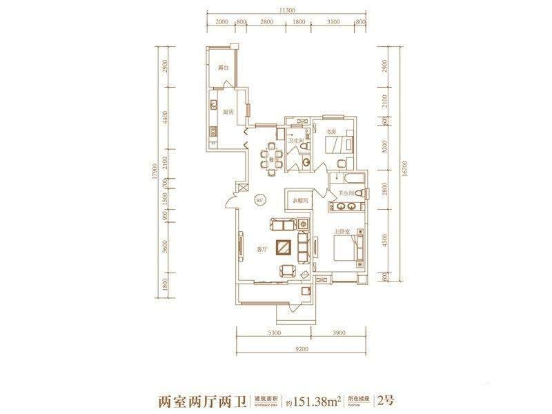 5号地2号楼标准层G3'户型