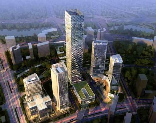 望京绿地中心一号楼效果图