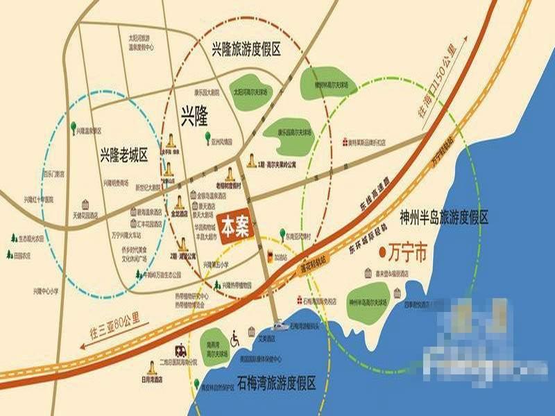 兴隆太阳谷温泉城位置图