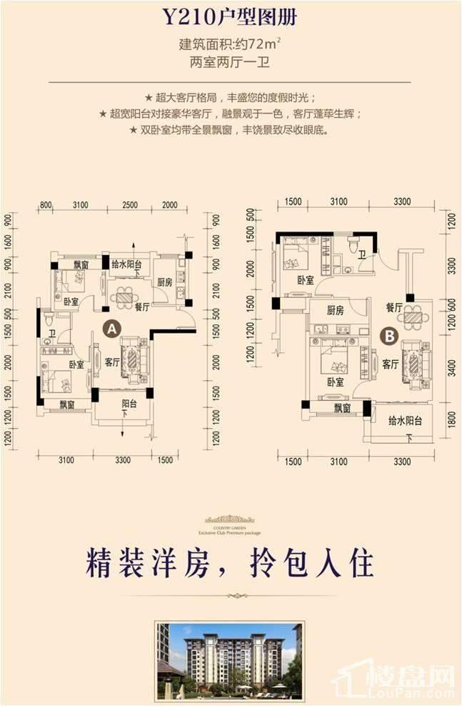 碧桂园中铁天麓1号户型图