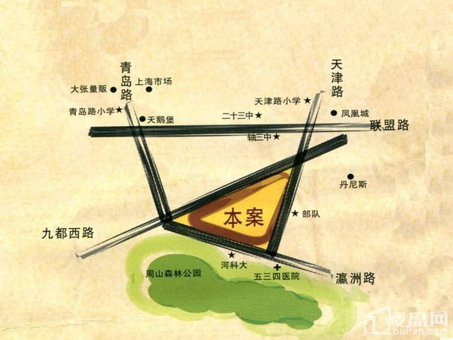 美伦香颂位置图