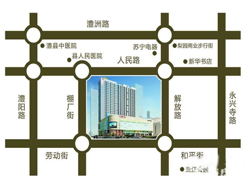 丁公桥商业广场 交通图