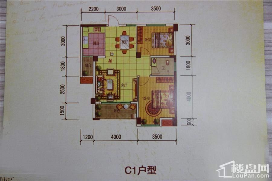 中海蓝湾C1户型户型图