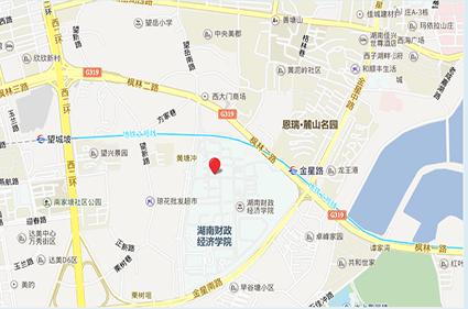 绿地湖湘中心位置图