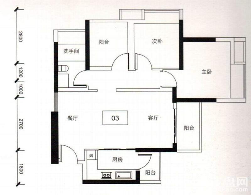 金海M-CITY户型图