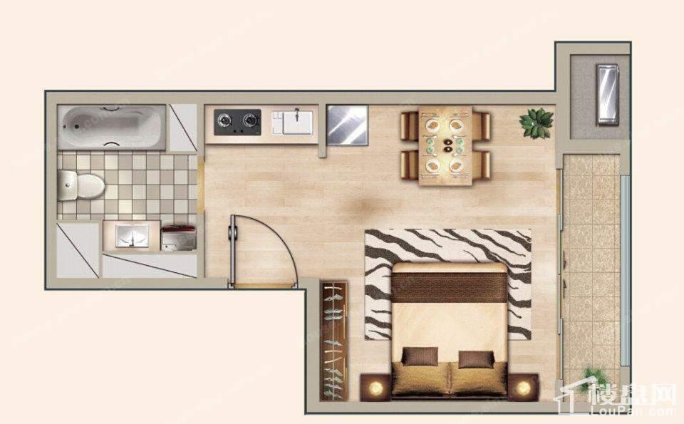 户型图3号楼1单元D户型