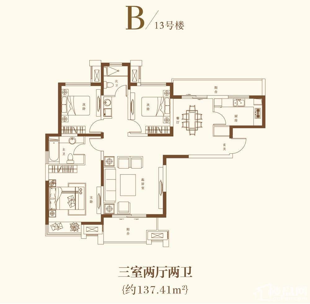 B-13号楼户型-