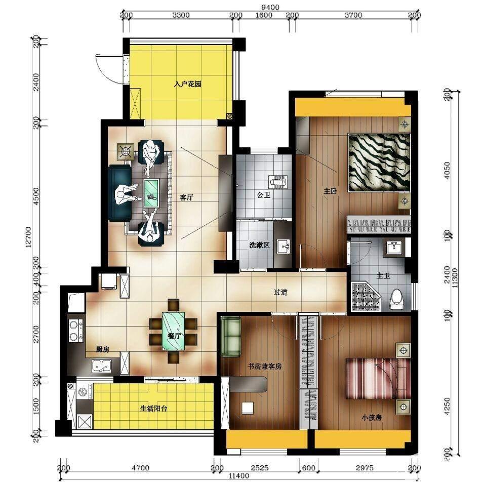天润·杏林湾5#2号房户型图