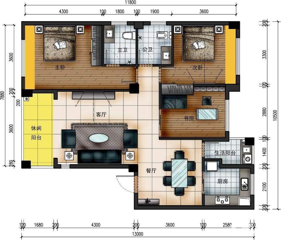 天润·杏林湾13栋16栋1号房户型图