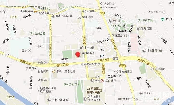 广佛颐景园位置图