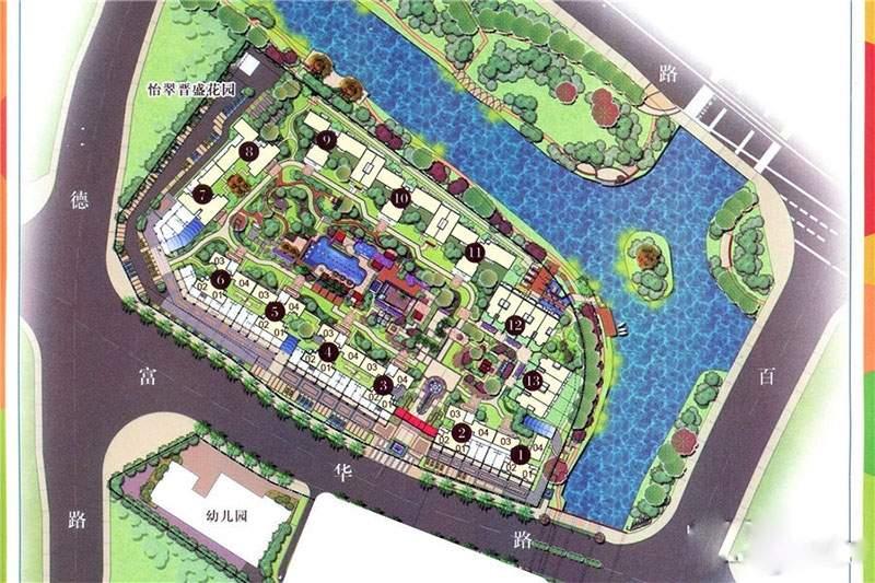 怡翠晋盛花园位置图