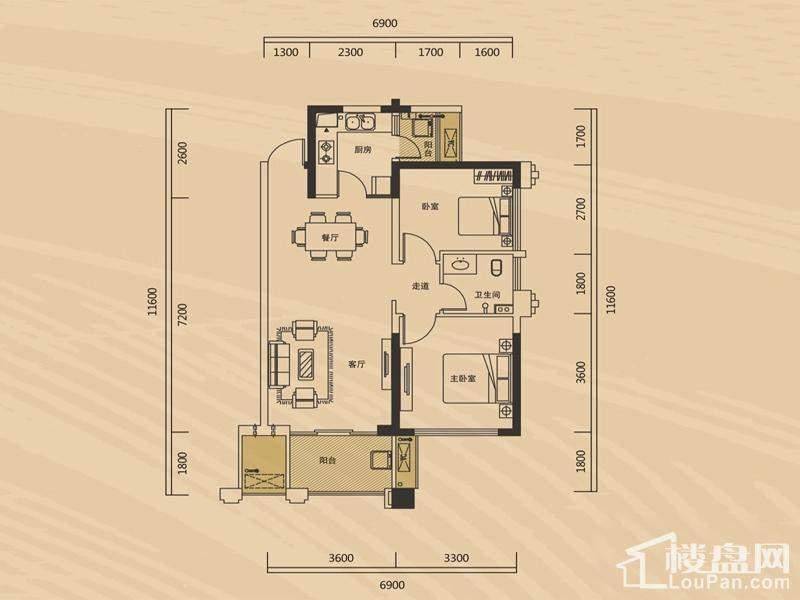 长房半岛蓝湾A1栋-H1-3户型