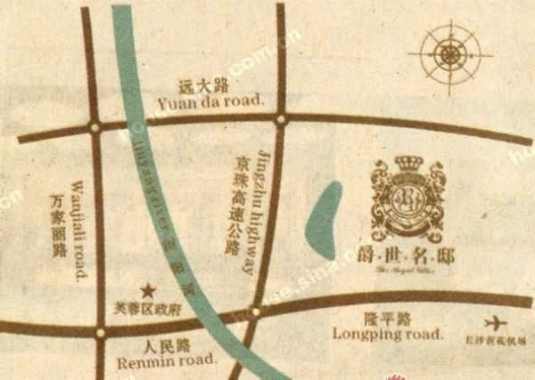 爵世名邸位置图