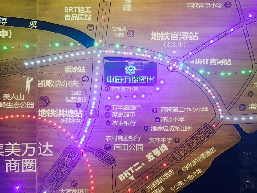 中海·万锦熙岸位置图