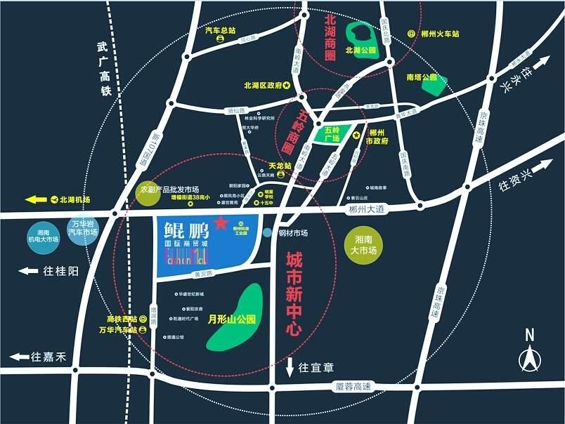 鲲鹏国际商贸城位置图