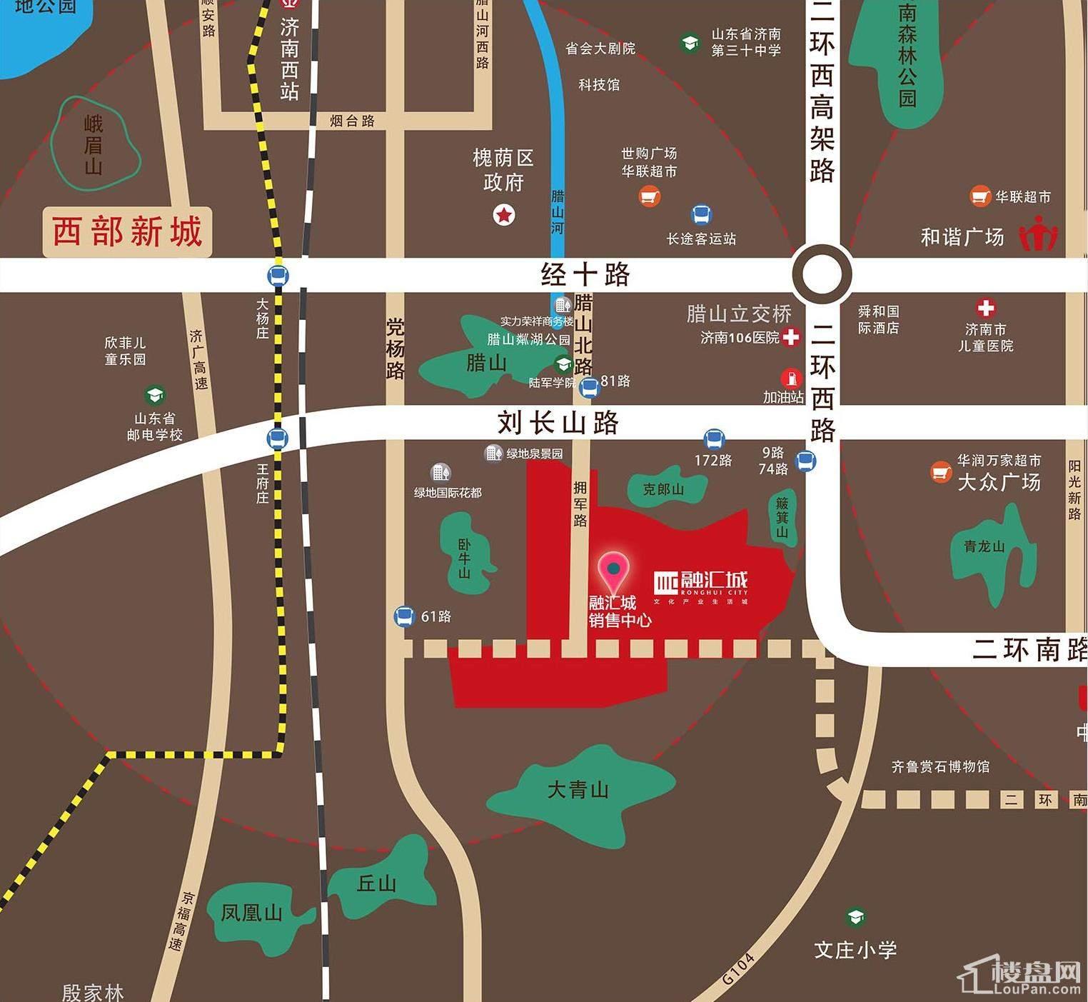 融汇城区位图