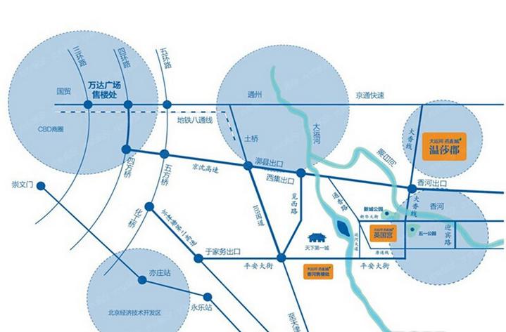 大运河孔雀城温莎郡位置图