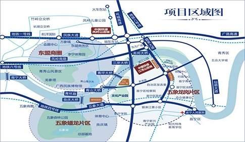 中铁江湾山语城位置图