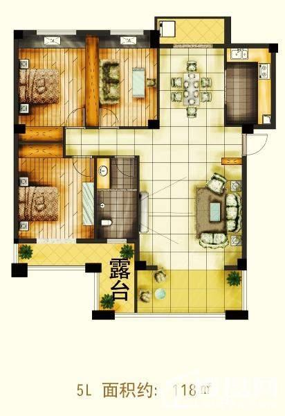 天润·杏林湾5L户型图
