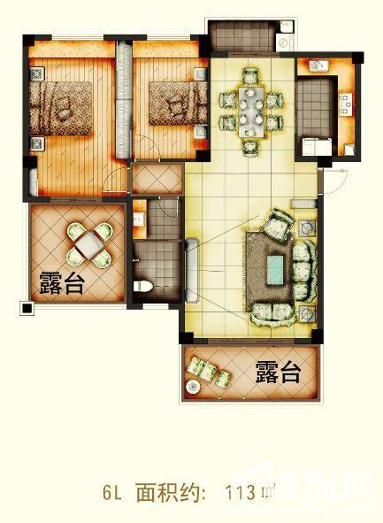 天润·杏林湾6L户型图