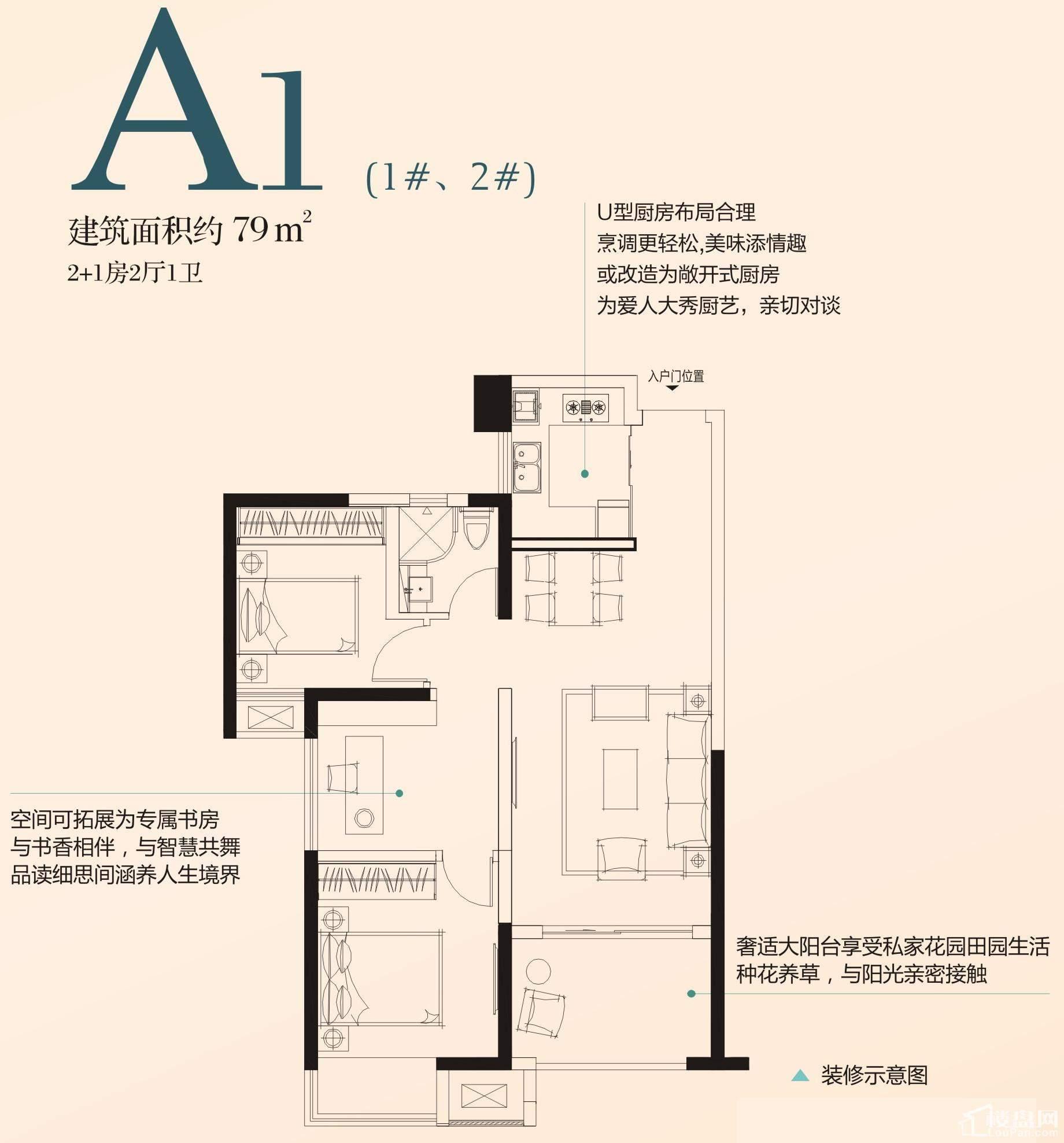 A1户型(1#、2#)