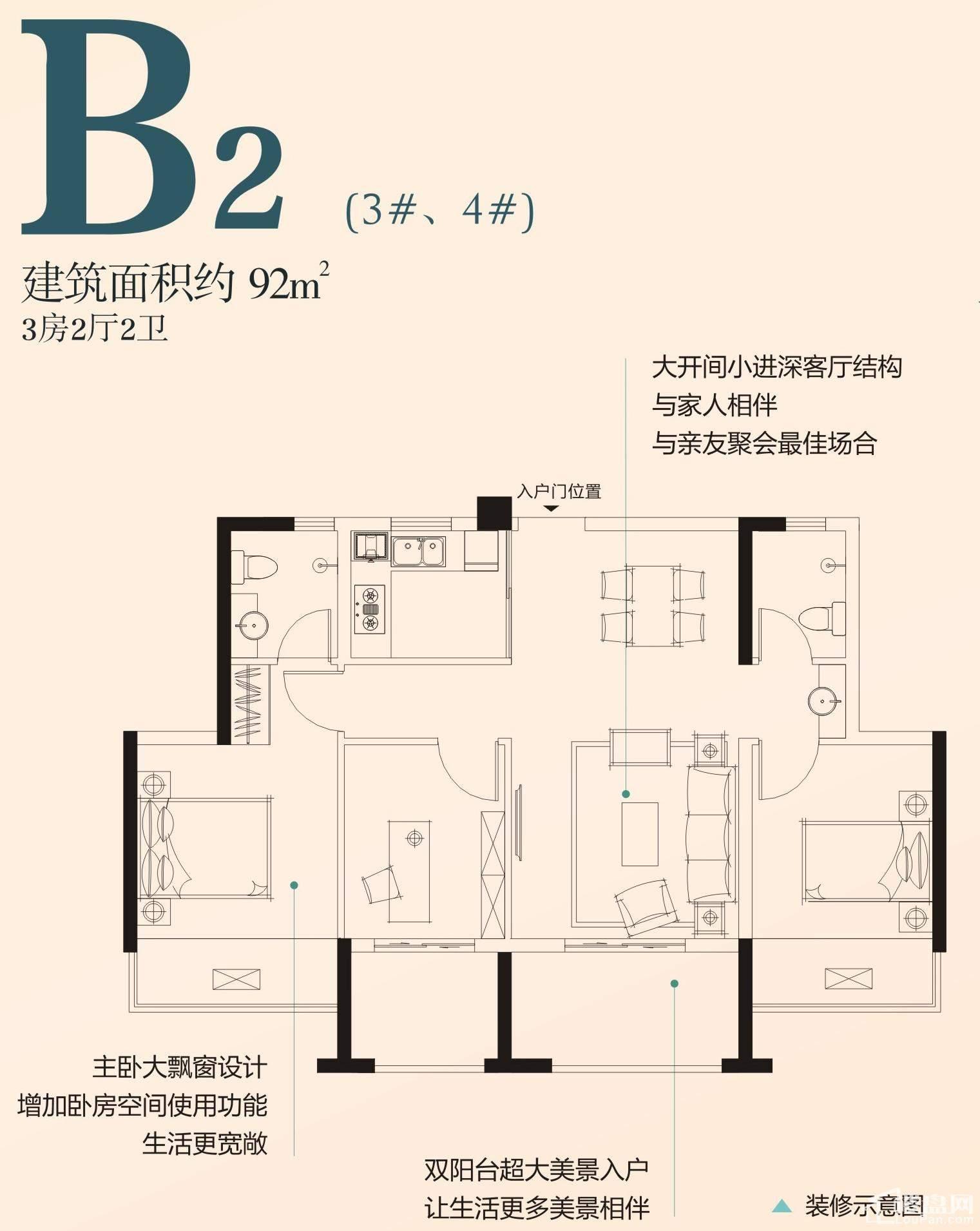 B2户型(3#、4#)