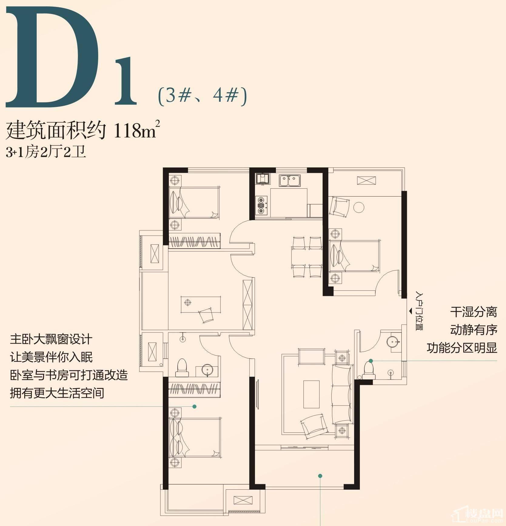 D1户型(3#、4#)