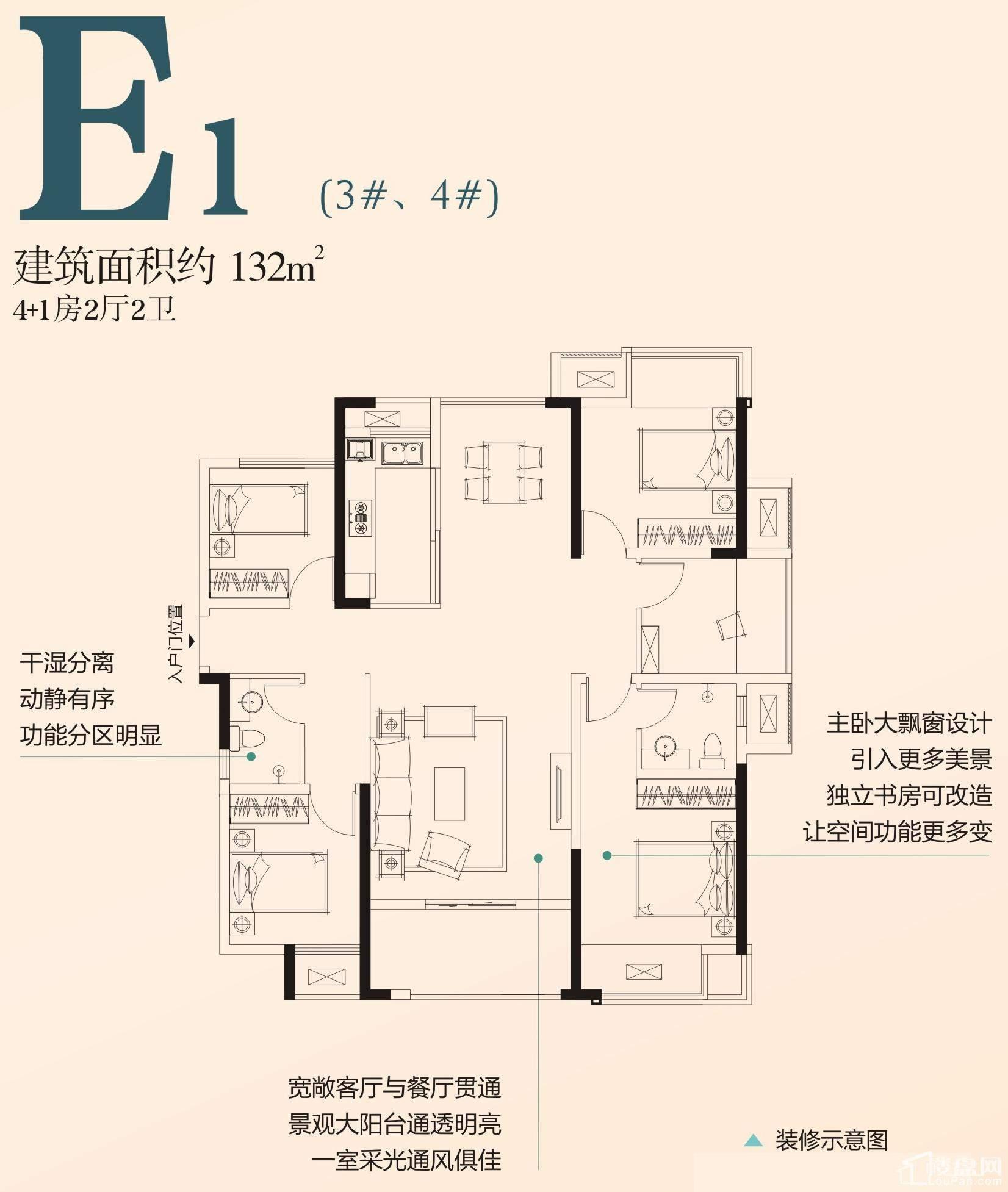 E1户型(3#、4#)