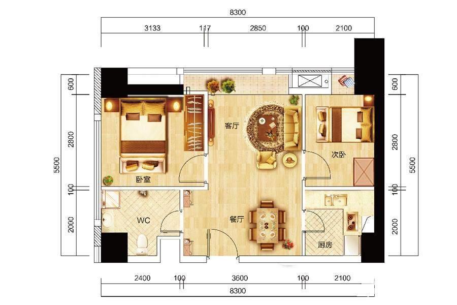 众东国际1、13号房户型